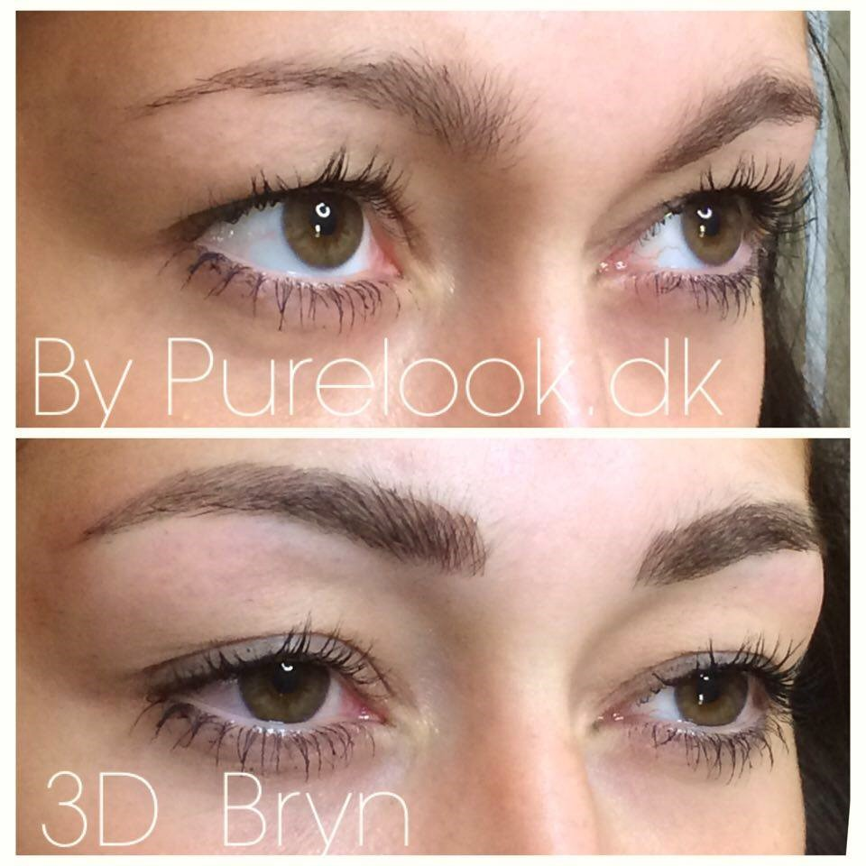 Permanent makeup 3D bryn tatoverede øjenbryn